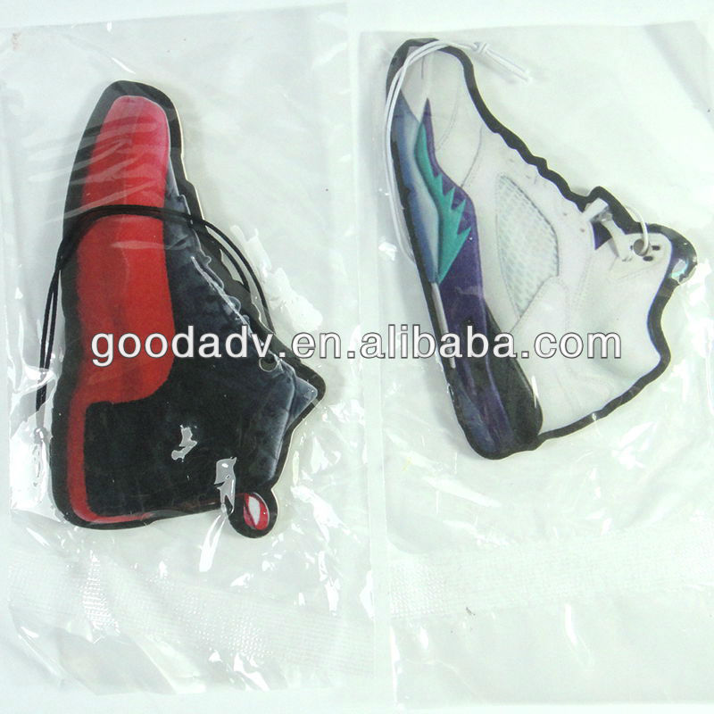 OEM factory Football shoes paper car air freshener for promotion