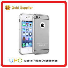 [UPO] Wholesale Custom 2 in 1 Hard Plastic Aluminum Bumper Phone Case for iPhone 4