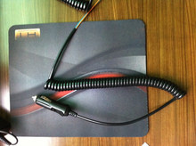 wholesale multi core electrical spring cable with cigarette lighter plugs