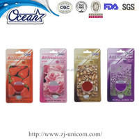 5ml personalised car air fresheners/Oil membrane car vent air freshener/best smelling car vent freshener