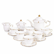2017 new design ceramic tea set chinese and western wedding
