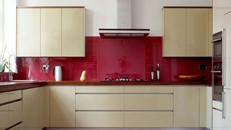rote farbe glas wandpaneele k che geb udeglas produkt id. Black Bedroom Furniture Sets. Home Design Ideas