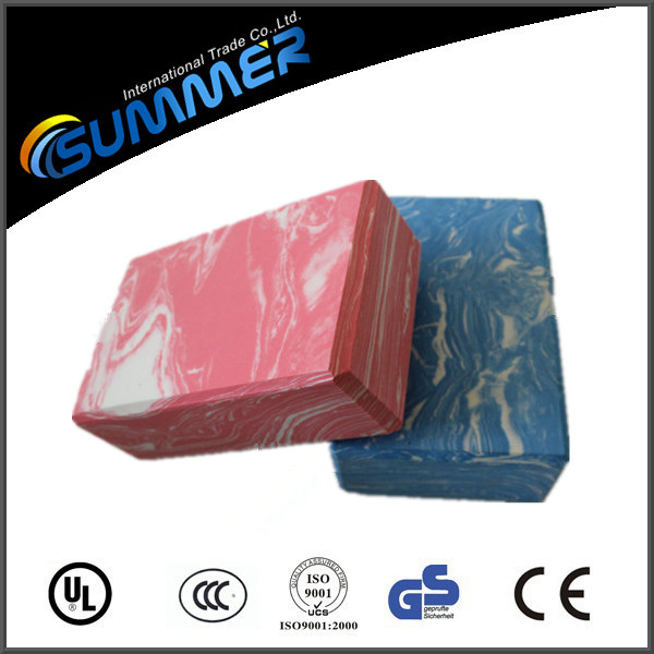 OEM logo printing high density foam block yoga exercise blocks