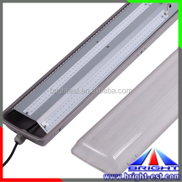 60w 1200mm 4ft led linear light driverless led tri-proof lights Ip65 use for parking lot railroad track workshop 5years