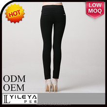 Fashionable cheap casual black women tight pants