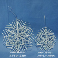 Metal wire christmas hanging decoration snowflakes