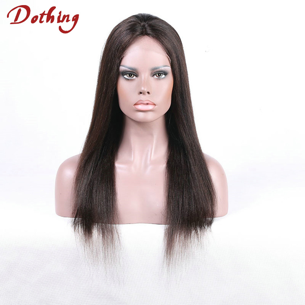 Natural Scalp Silky Straight Long Human Virgin Remy Hair Cheap Full Lace Wigs No Synthetic For Woman