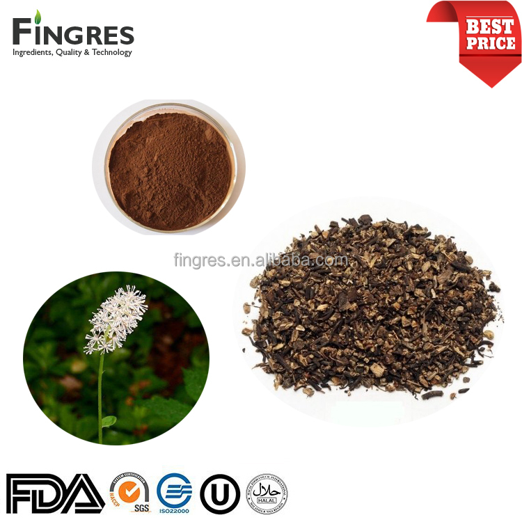 Triterpene glycosides 2.5%, 5%, 8% Black Cohosh Extract powder with high quality