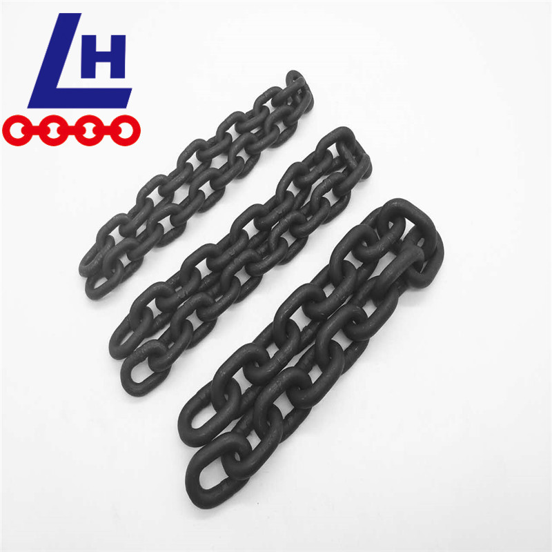 Alloy Steel G80 blackened lifting Link chain
