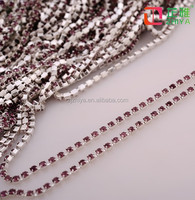 New style crystal empty roll colour metal close rhinestone cup chain