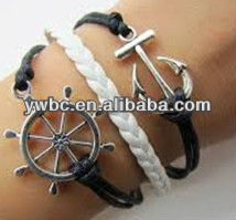 Wholesale newest simple nautical cord bangles jewelry