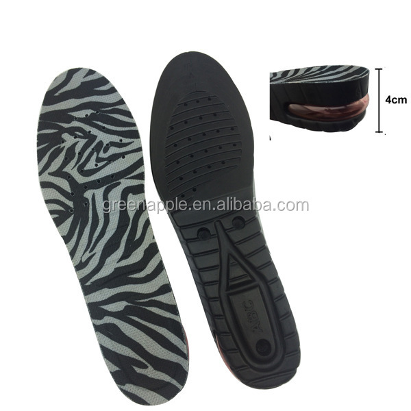 leopard print Insole type and PU air cushion height increasing insoles