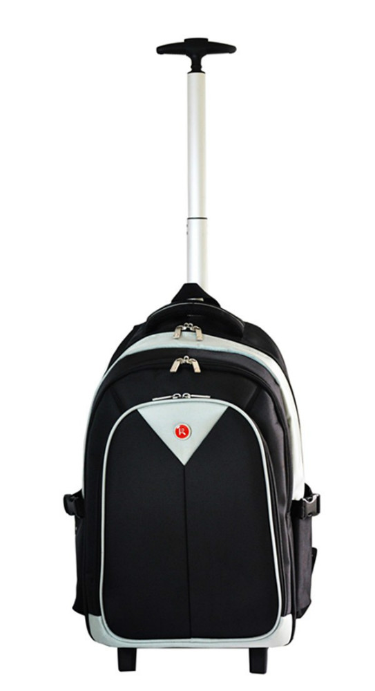 Fashion cheap laptop trolley backpack bag with wheels