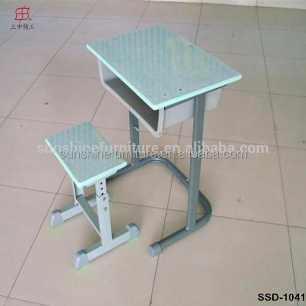 M tal bois unique double tudiant mobilier scolaire cole bureau et chaise lo - Unique mobilier de bureau ...