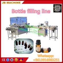 JB-YX2 Glass bottle essential oil filling plugging in and capping machine, essential oil bottling line