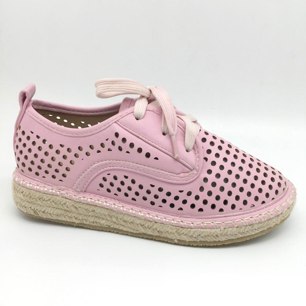 Confortable hemp outsole with different color for woman shoe