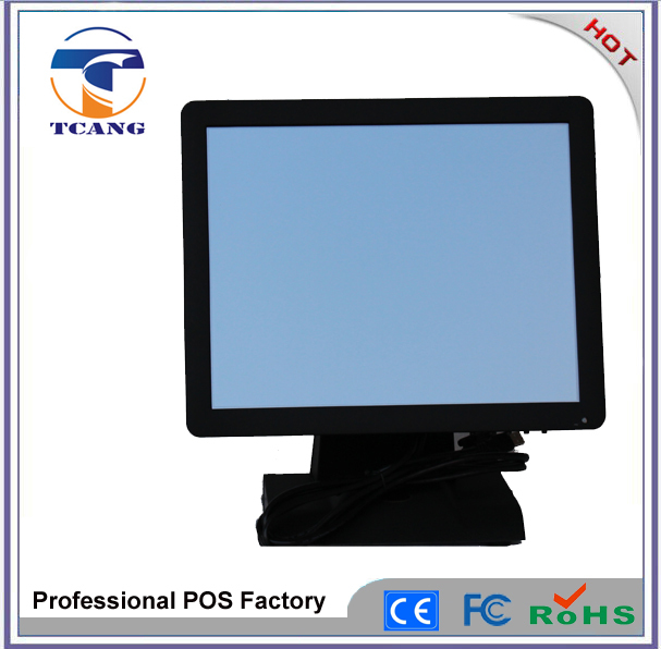15 inch foldable touchable lcd touch screen monitor for restaurant cash machine pos