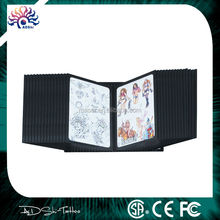 China manufacturing company supply 28 double side panes wall tattoo flash rack, image drawing display stand shelf tattoo book