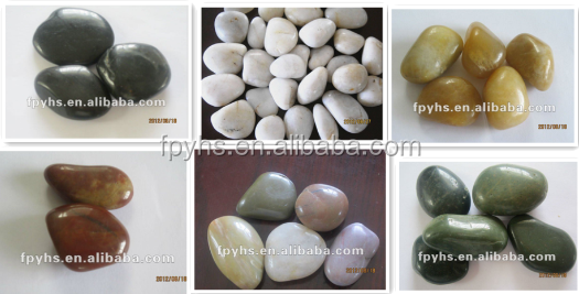 Cobbles & Pebbles Type and Natural Stone Material flat pebble stone