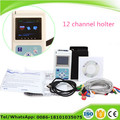 12 channel ECG holter system recorder analyzer EKG Holter Monitor with Free software