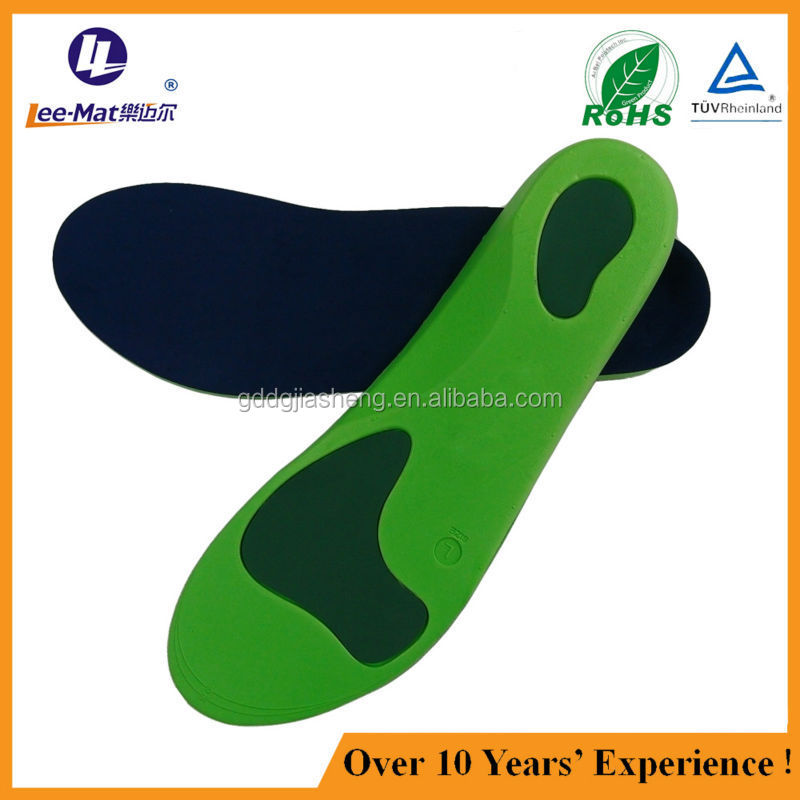 Wholesale arch support orthotic insoles eva orthotic insole with poron
