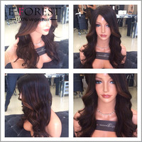 Best Price Sell Hair Wig Body Wave Top Grade Brazilian Human Hair Ombre Lace Front Wig