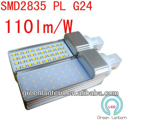 high power smd 2835 g24 led plug light bulb 6w 8w 10w 13w