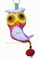 Cotton owl key chain