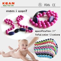 Baby New Products 2015/Mom Wearing Necklace Teething Baby