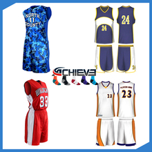 Custom reversible sublimation team basketball jersey design