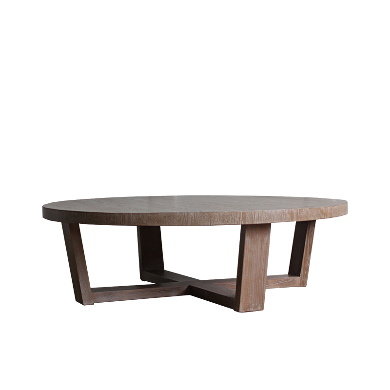most popular wholesale furniture round wooden coffee table design