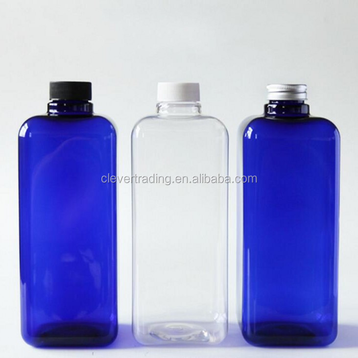 1000ml square plastic shampoo bottle hair oil pet bottle