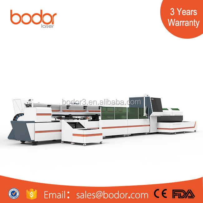 cnc metal tube and pipe fiber laser cutting machine with auto loading device