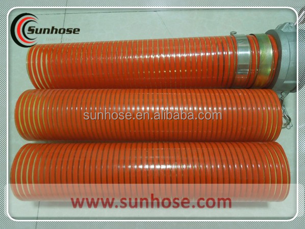 SUNHOSE Flexible PVC Material Helix Water Suction Hose With Plastic Wire Reinforcement For Cencrete