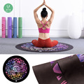 SGS eco friendly round yoga mats wholesale natural rubber yoga mat