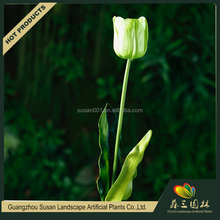 Custom color low cost plastic PU material artificial real touch tulip bulbs