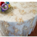 TX41112X Customized floral Fancy wedding embrodery table cloth