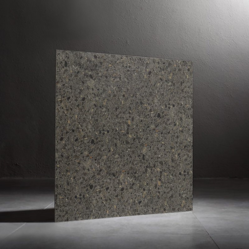 600x600mm High quality black color terrazzo molded surface matt finished outdoor floor tiles <strong>ceramic</strong>