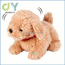Certificated plush stuffed animal wholesale electric walking dog toy for kids