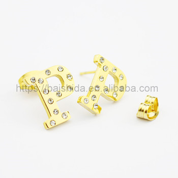 cheap custom letter stud earrings jewelry wholesale china