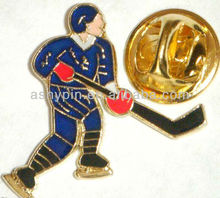 Ice Hockey Player Lapel / Hat / Cap / Tie Pin Badge - Souvenir Gift
