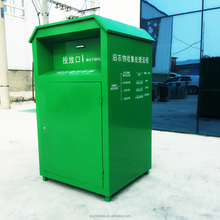 Factory customised metal donate clothes drop box