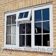 Fashionable house aluminum fix glass window with grid