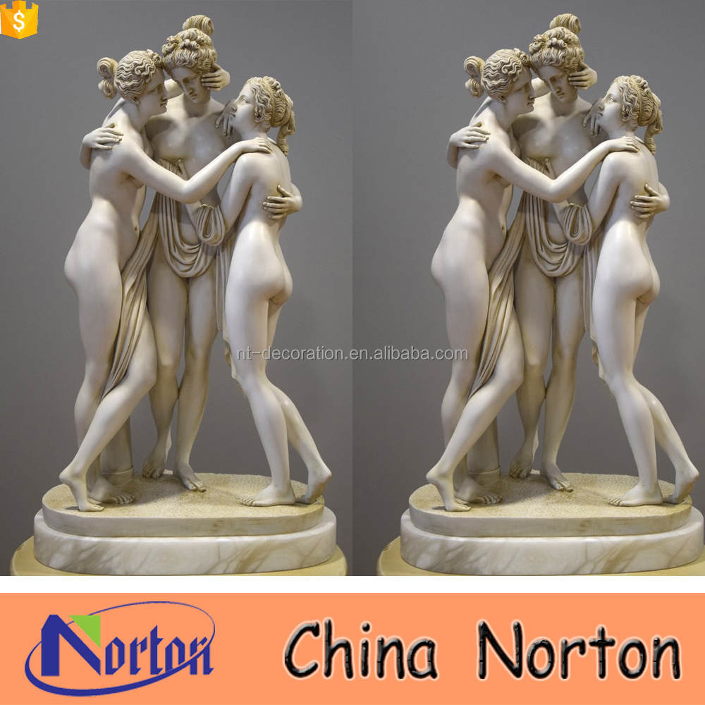 Hand carved natural marble sculptures the three graces statue NTMS0915A