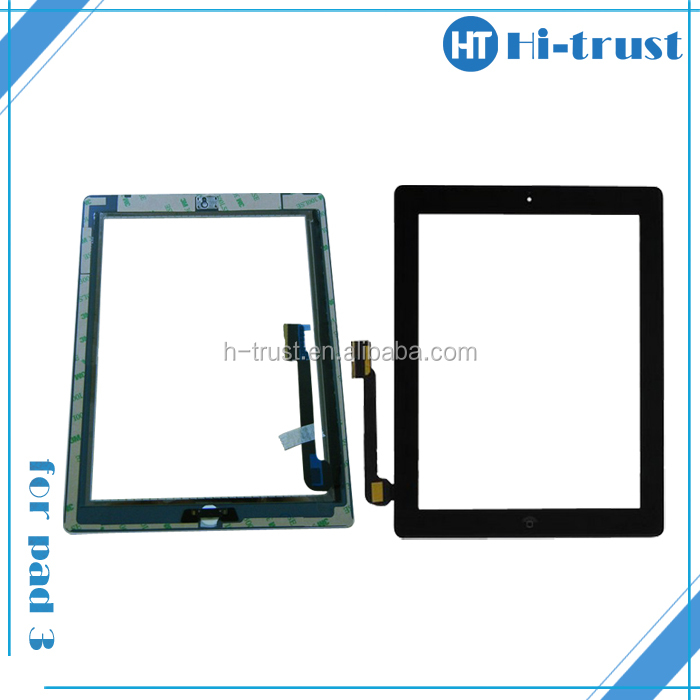 Home Button and Adhesive Sticker free shipping by DHL! Replacement for Ipad transparent lcd screen