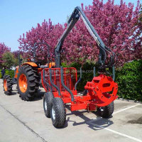 3 ton ATV log trailer with crane ZM3004
