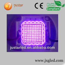 High power 395nm 400nm uv led 100w with CE,RoHS certification