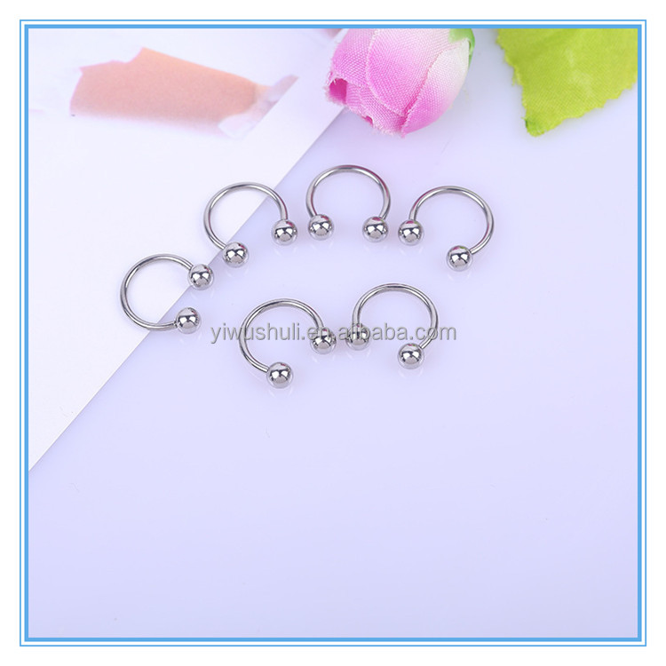 Hot sale surgical 316L steel horseshoe nose rings
