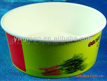 Colorful printing disposable bowls and lids