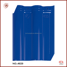 Chinese Modern House Ceramic Glazed Glossy Blue Clay Roof Tiles
